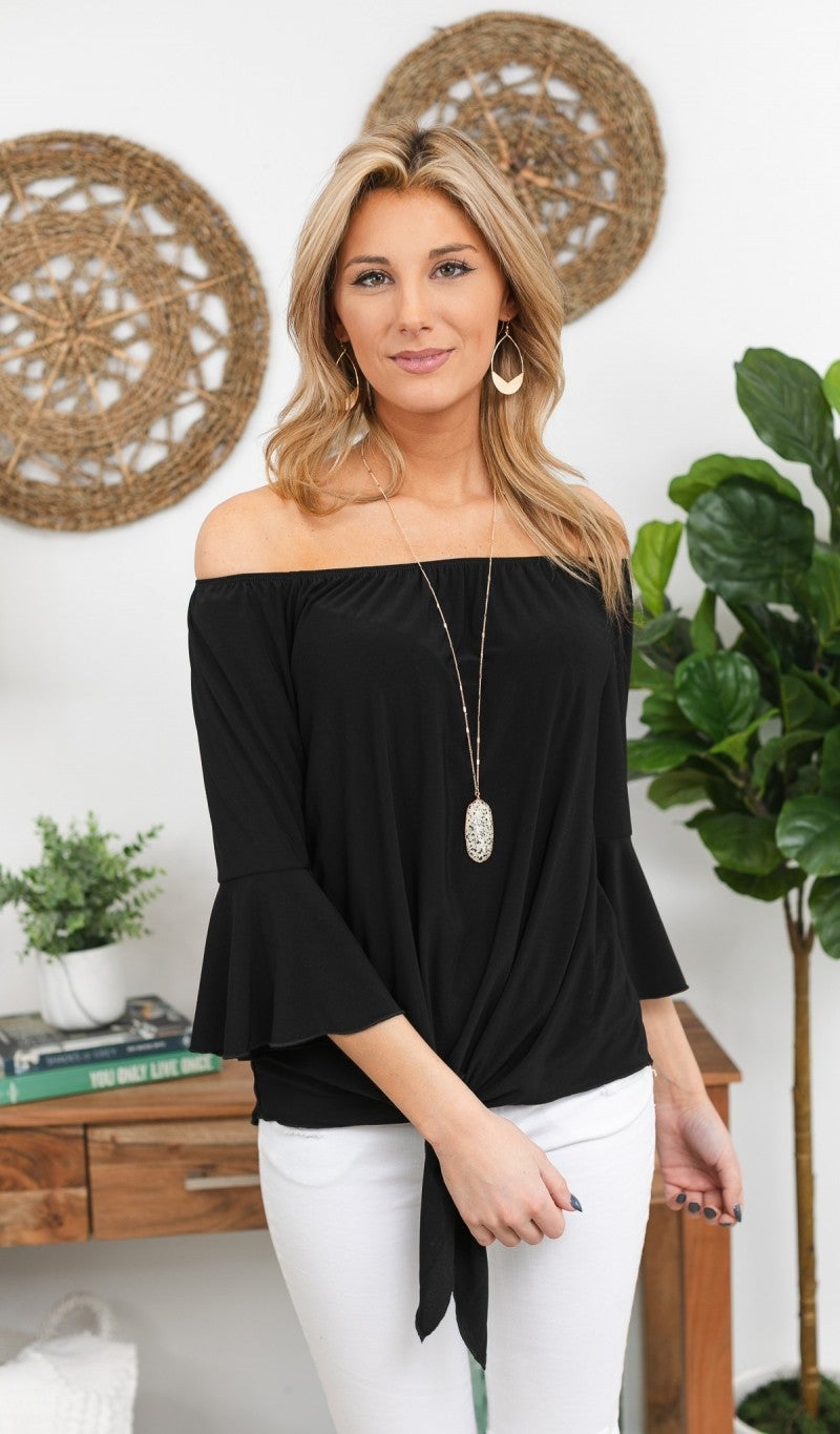 Date Night Top, Black