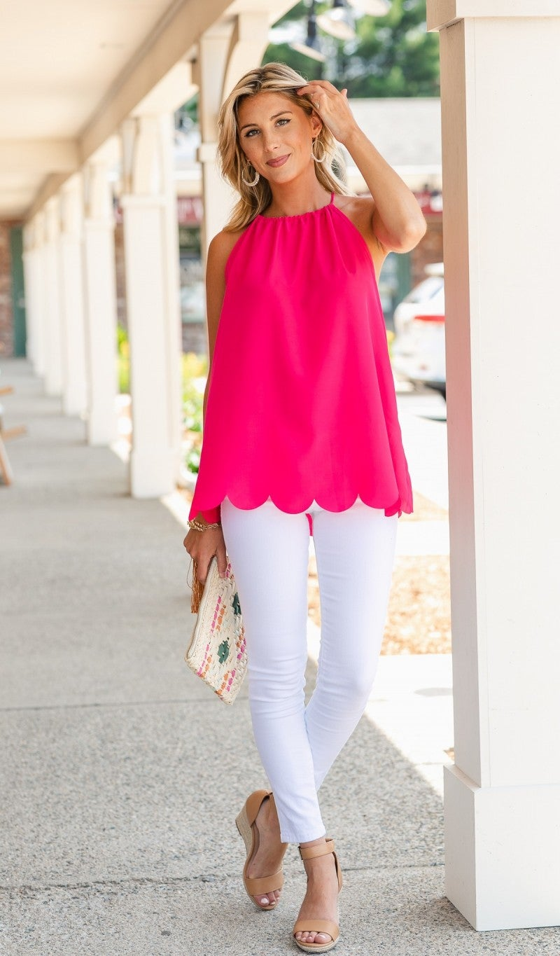 Daisy Days Top, Pink