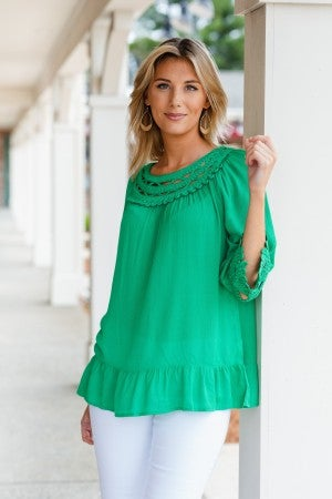 First Glance Top, Kelly Green
