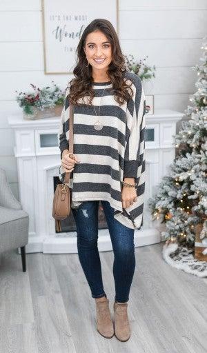 The Hayden Sweater Top, Oatmeal