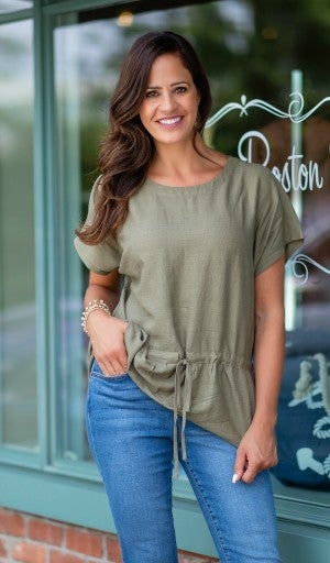 Effortless Style Top, Olive