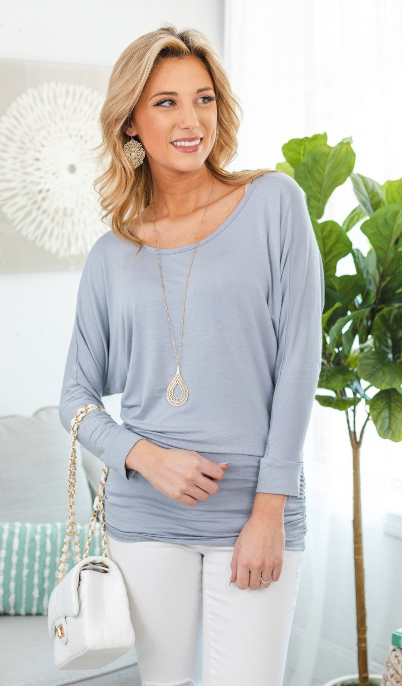 Fit To Be Fabulous Tunic, Silver