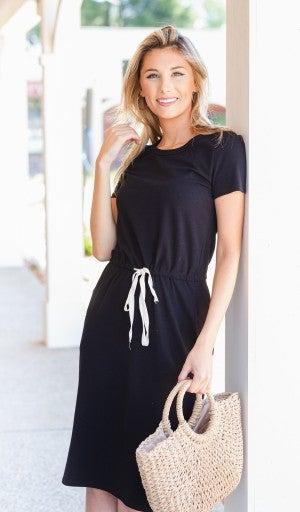 By The Bay Midi Dress, Black