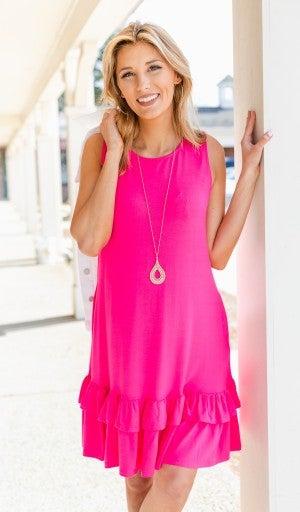 Calling Your Name Dress, Hot Pink