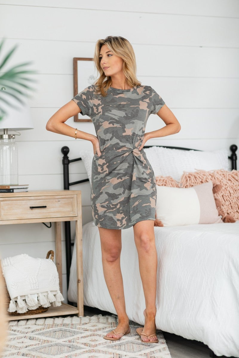 Twist For You Dress, Camo