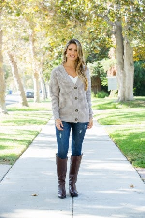 Forever A Classic Cardigan, Grey *Final Sale*