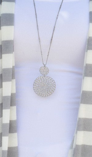 Keep It Classy Necklace, Silver