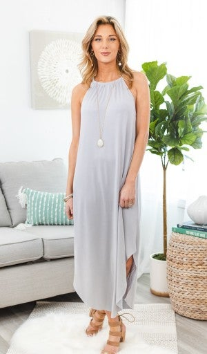Easy To Love Midi Dress, Grey