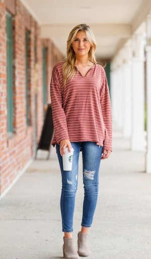 Easy To Love Top, Canyon Clay