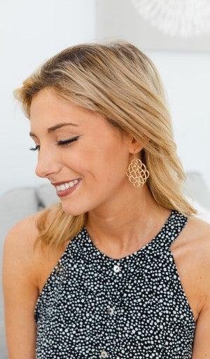 Shine Bright Earrings, Gold