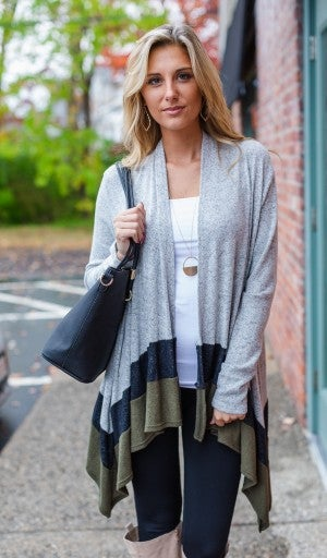 Cool As The Breeze Cardigan, Olive