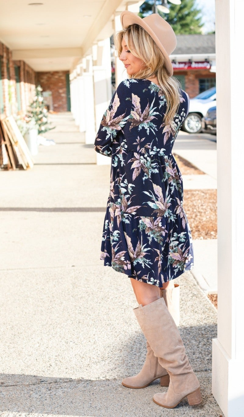Little Wonder Dress, Navy