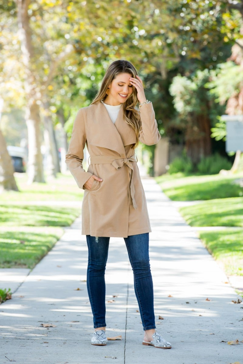 Found The One Trench Coat, Camel