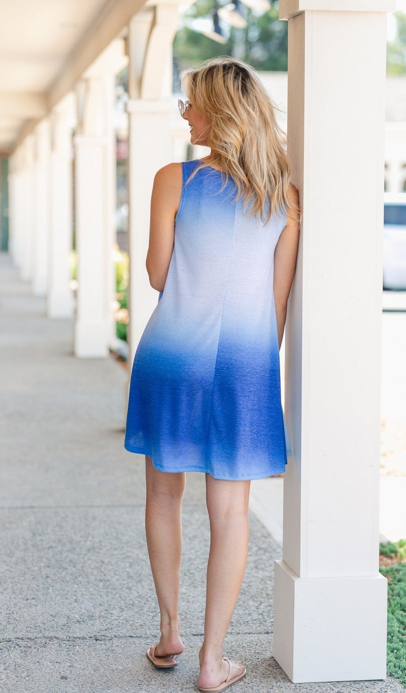 Getaway With Me Dress, Blue
