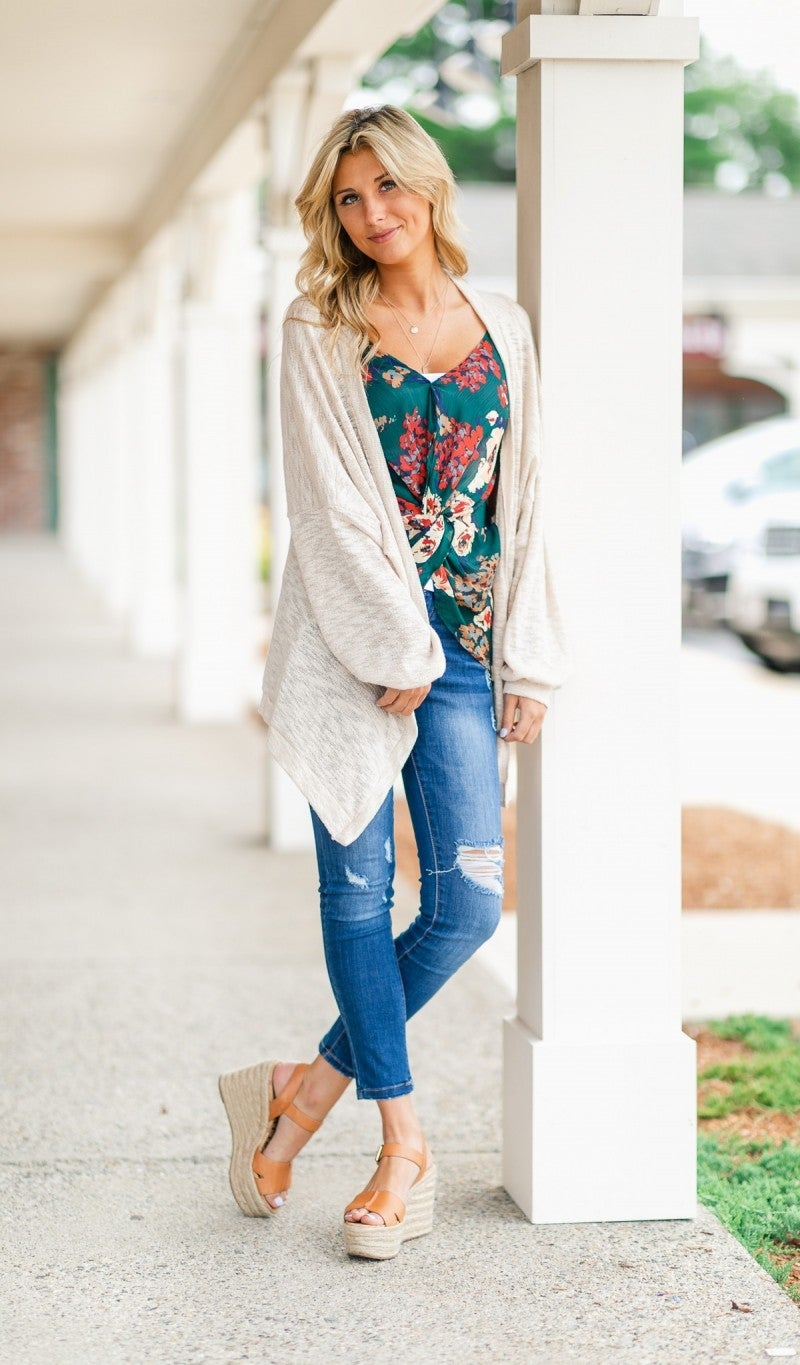 California Nights Cardigan, Beige