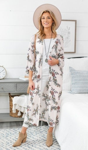 Steady Love Kimono, Pink