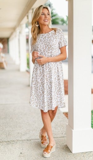 Easy Times Dress, Neutral print