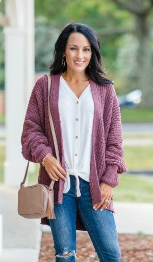Can't Compare Cardigan, Mauve