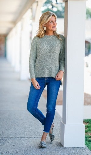 Warm Up Sweater, Olive