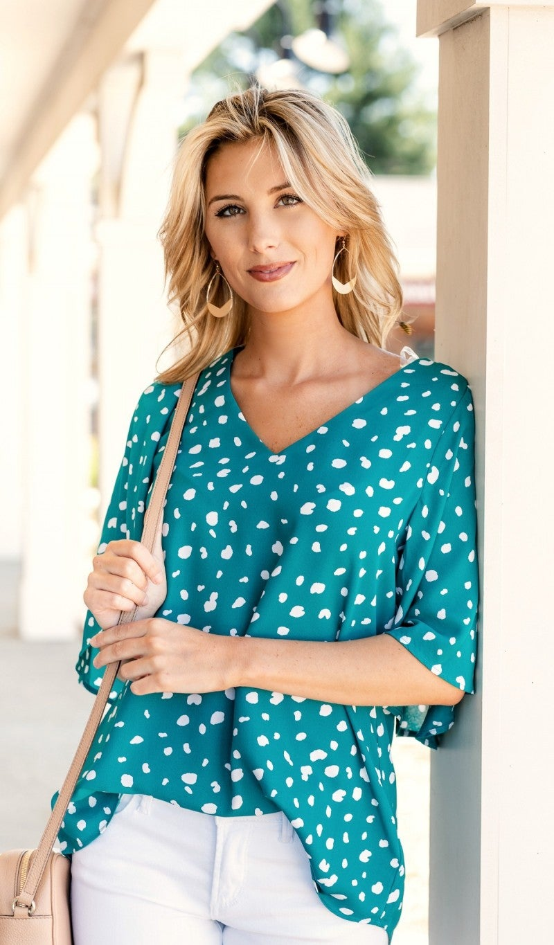 The Molly Blouse, Teal