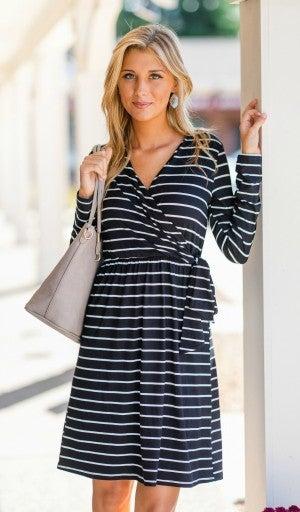 Days Like This Dress, Black & Ivory Stripe