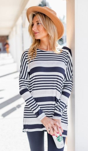 The Henley Tunic, Navy