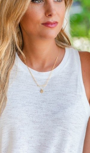 Feeling This Good Bar Layered Necklace
