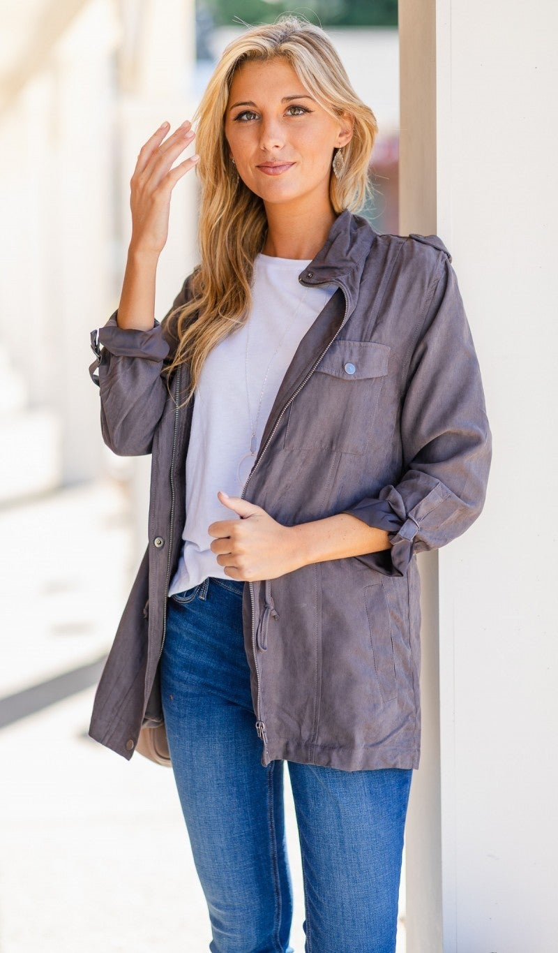 On The Road Jacket, Grey