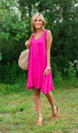 Easy Choice Dress, Hot Pink
