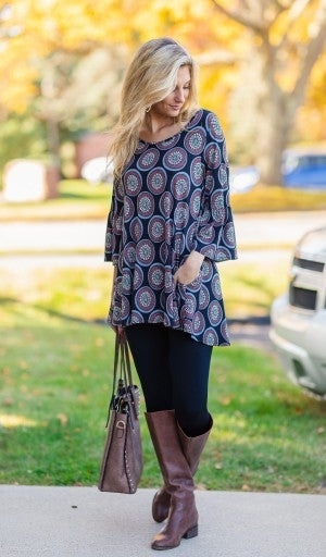 Back To This Tunic, Black *Final Sale*