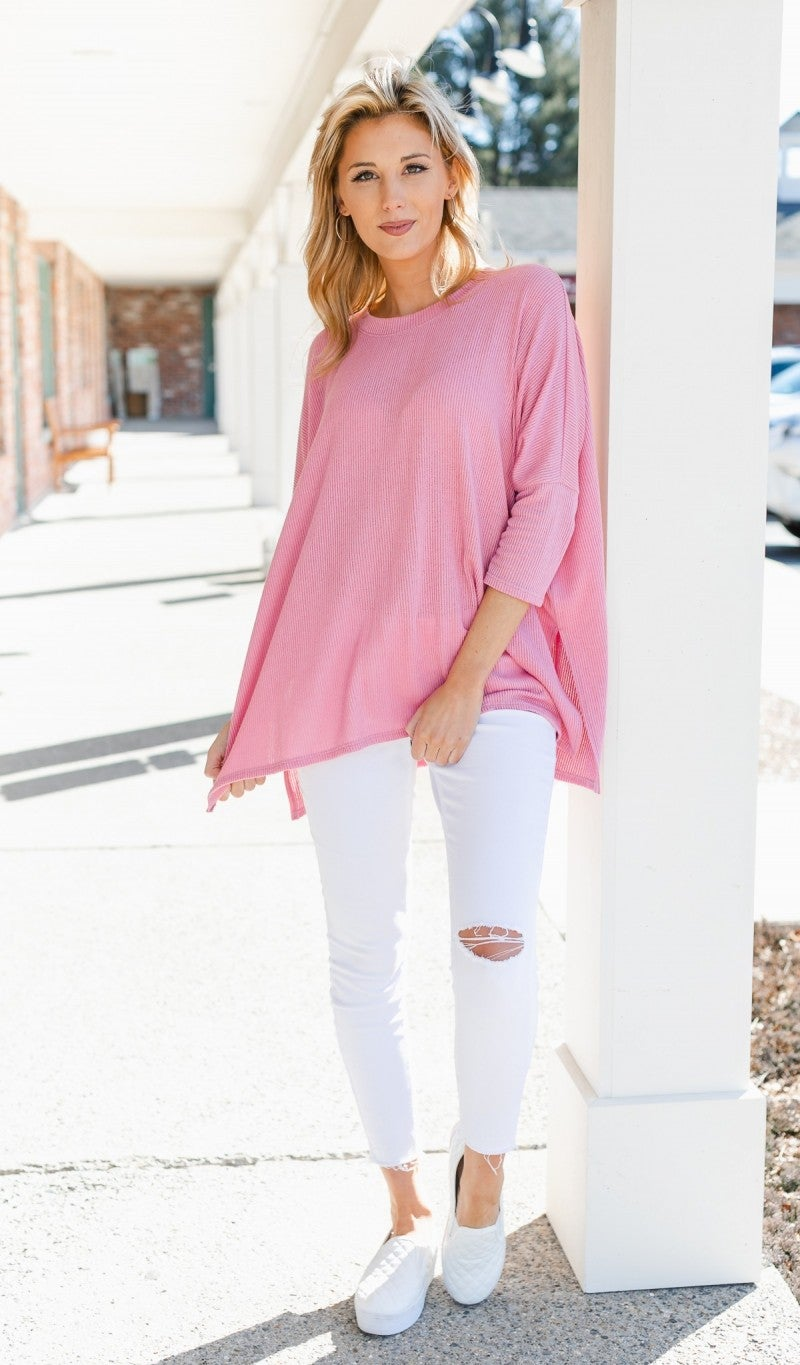 Up For Discussion Top, Pink *Final Sale*