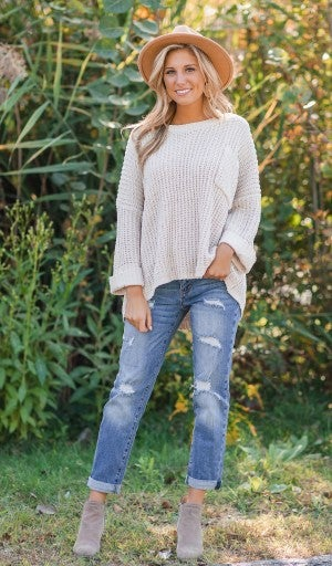 Close Connection Sweater, Taupe