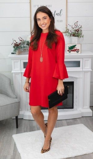 Don't Hesitate Dress, Black or Red