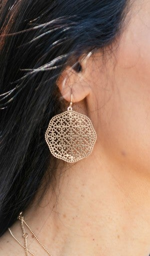 Classic Moments Earrings, Gold
