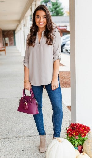 Best Impressions Blouse, Taupe