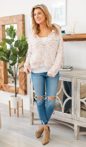 Funfetti Sweater - Zip Up Hoodie Style
