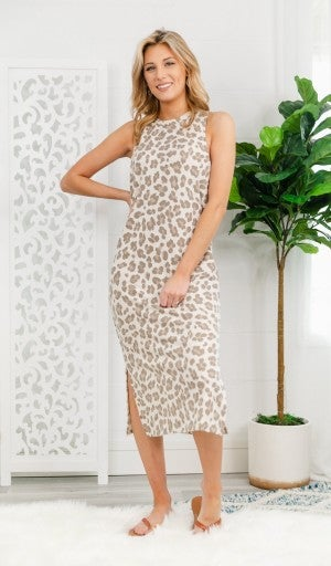 Without A Care Midi Dress, Taupe