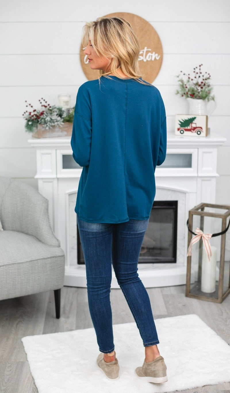 Basically Beautiful Tunic, Teal or Burgundy