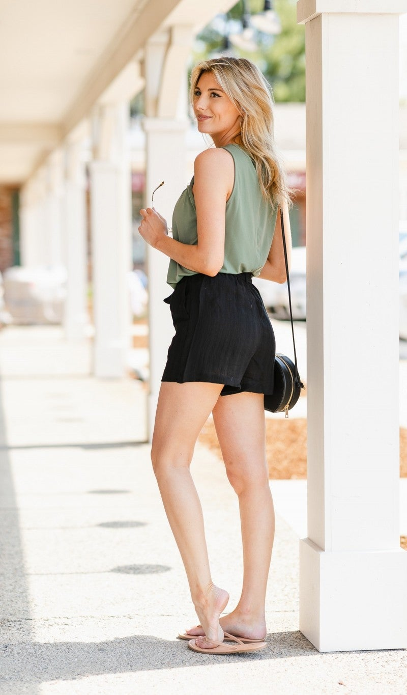 Ode To Summer Shorts, Black