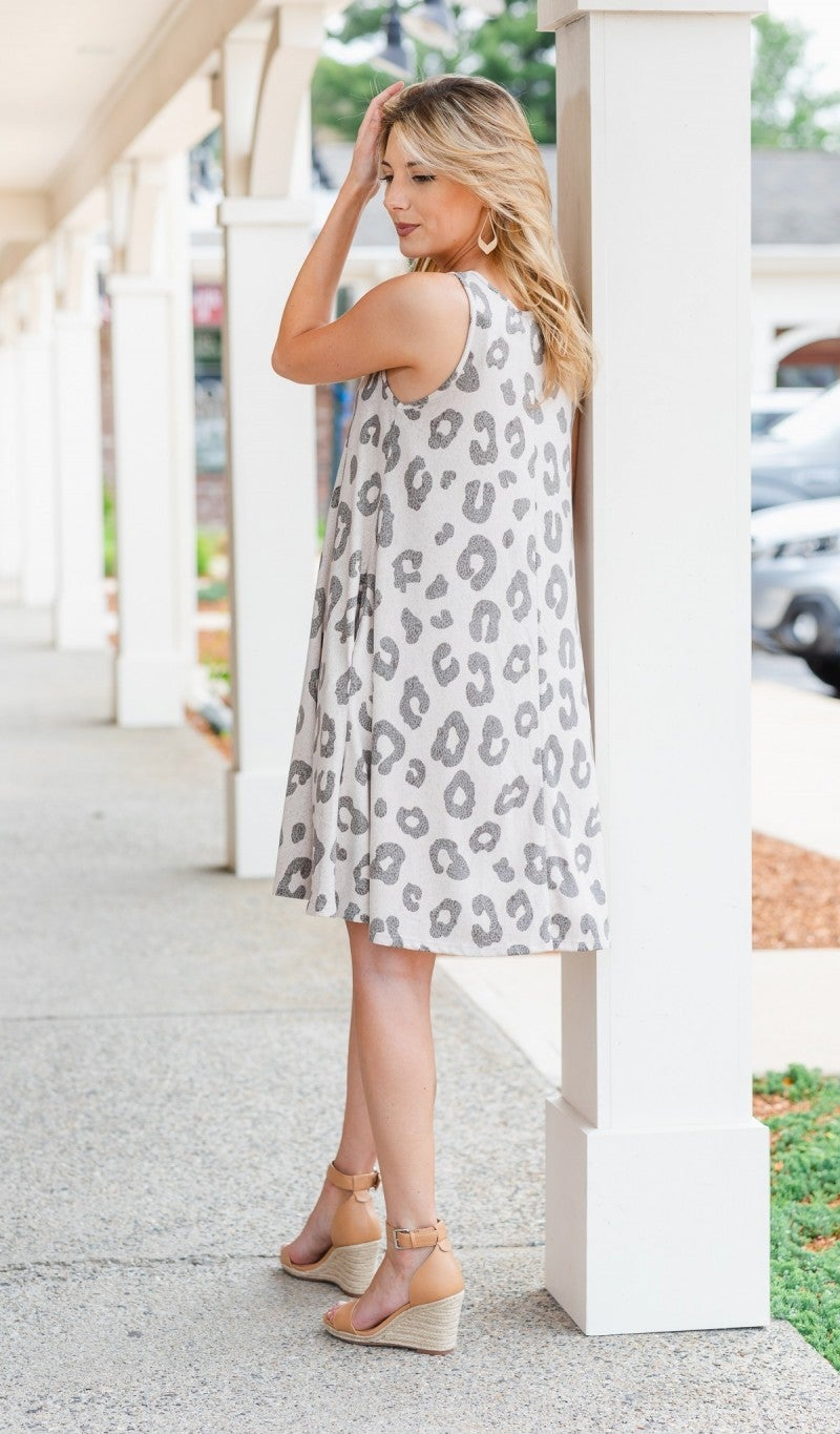 A Wild Touch Dress, Beige