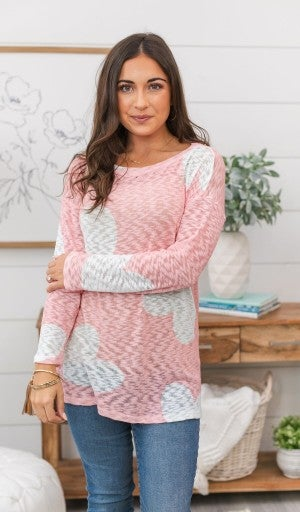 Queen Of Hearts Sweater, Peach