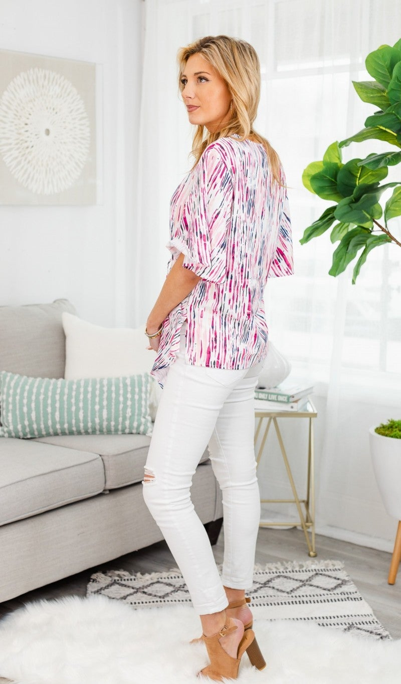 Watercolor Dreams  Blouse , Pink