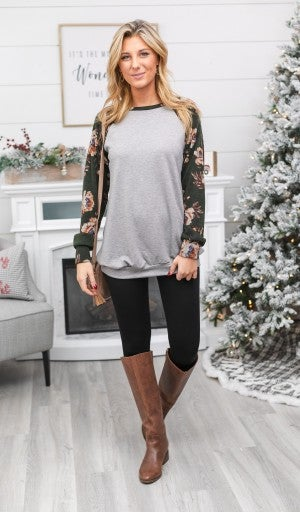 Fun ' Flirty Tunic, Grey