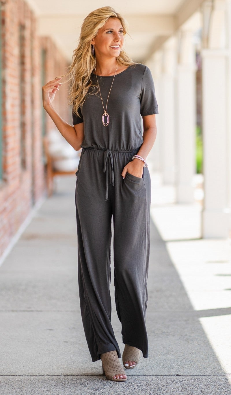The Dazzling Night Jumpsuit, Grey