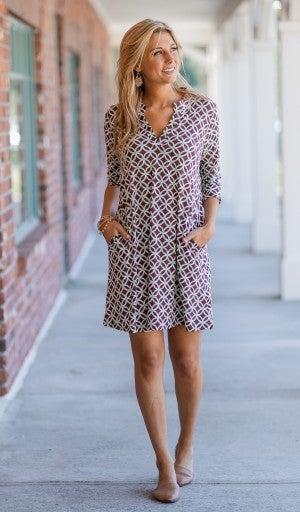 Old Soul Dress, Brown