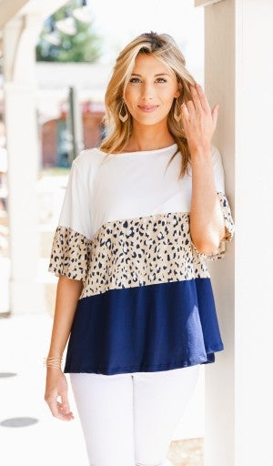 Lucy In The sky Top, Navy