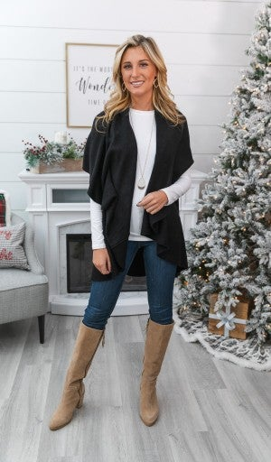 GIFT GUIDE!!! Can't Miss Me Vest, Black or Plum