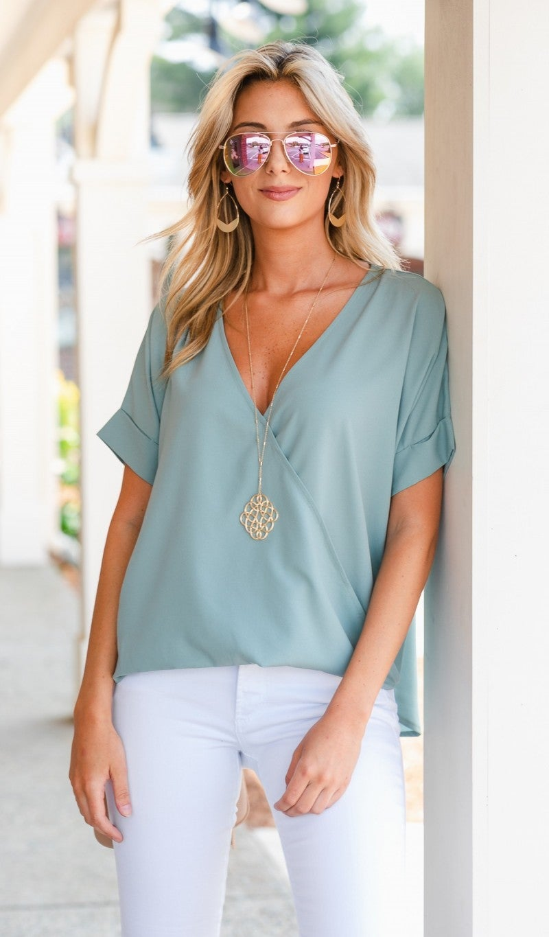 Monday Meeting Top, Mint or Black