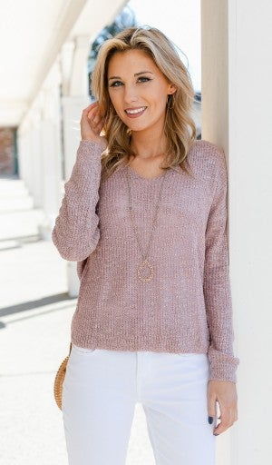 Look At You Sweater, Mauve