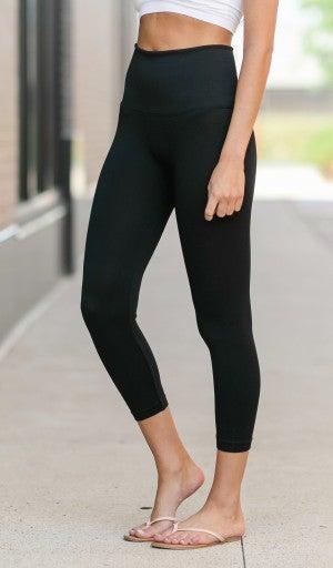 Cropped Black Leggings